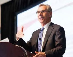 Cardinal Health CEO George Barrett delivers the keynote address at the 2014 Vanderbilt Health Care Conference
