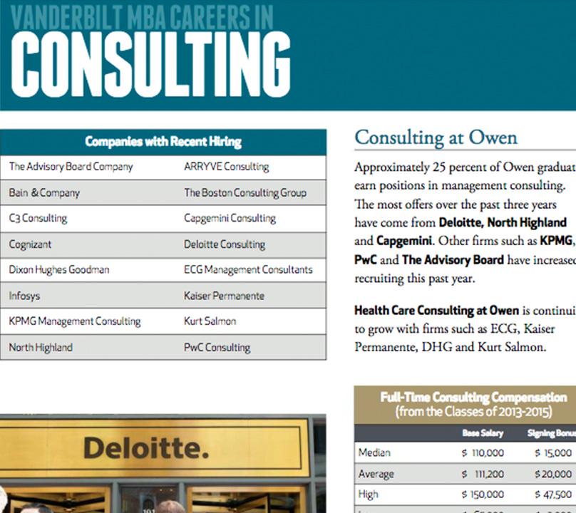 MBA Careers in Consulting | Vanderbilt Business School
