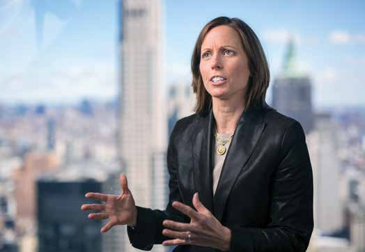 Adena Friedman in her NYC Nasdaq office.
