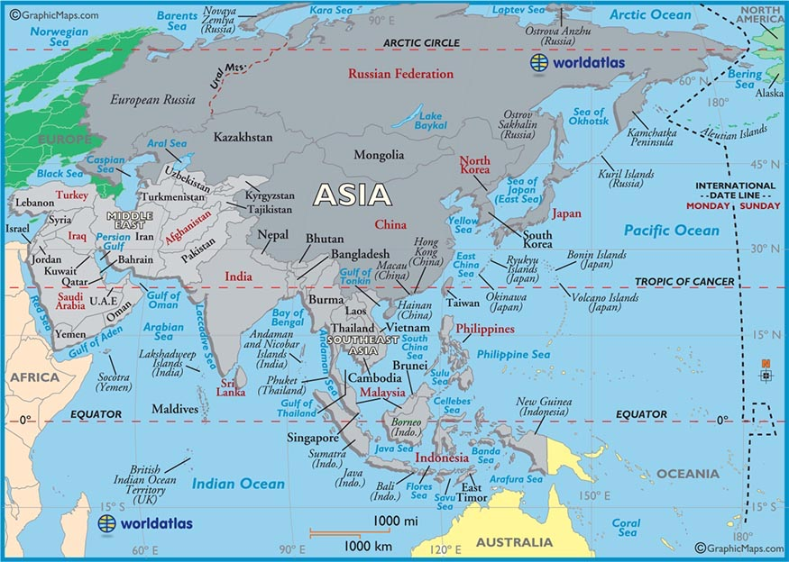 Map Of Asia Equator.Map Of Asia Vanderbilt Business School
