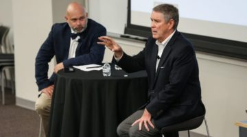 Senator Bill Frist Speaks to Students, Alumni about Healthcare Investing