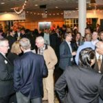 The Owen Reunion Reception is in full swing Friday evening in the Management Hall lobby.