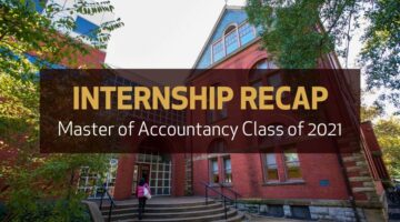 MAcc Class of 2021 Internship Reflections