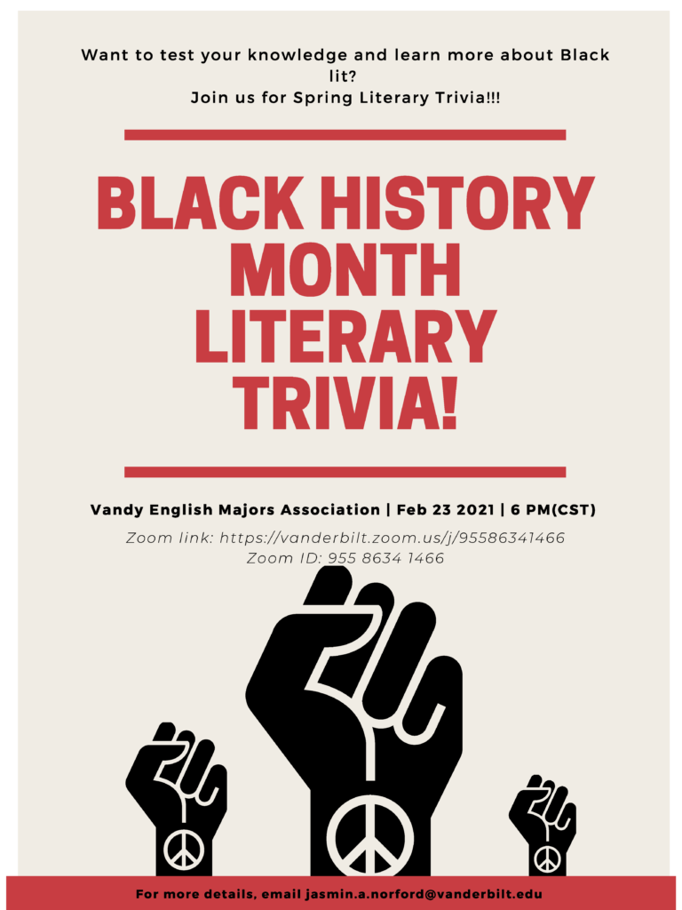 Black History Month Trivia poster