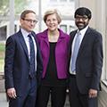 Senator Elizabeth Warren visits law school.