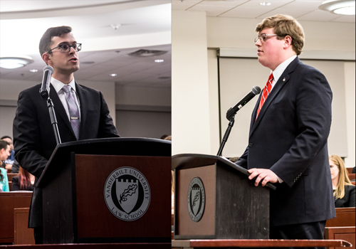 2015 Moot Court winners Larry Crane-Moscowitz and Alex Vey