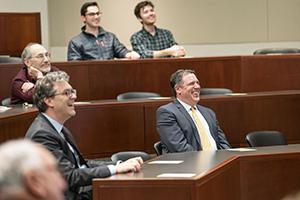 Jim Rossi Chair Celebration in the Hyatt Room at the Law School.(John Russell/Vanderbilt University)