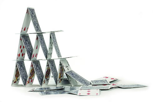 photo of a house of cards
