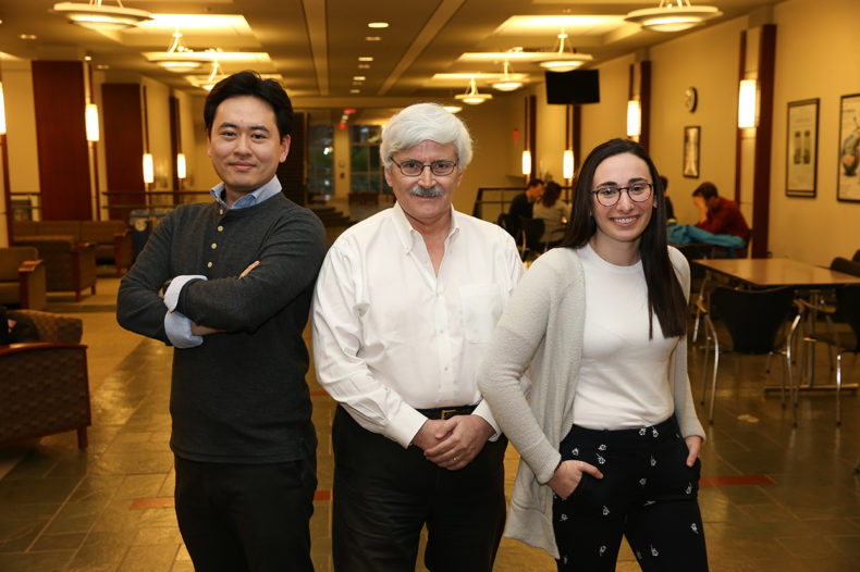 photo of Kent Halkett, Emily Sachs and Jin Yoshikawa
