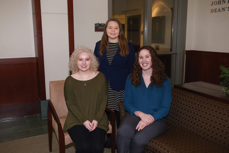 photo of Anna Forrister, Kira Benton and Shannon Vreeland