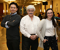 Jin Yoshikawa, Kent Halckett, and Emily Sachs