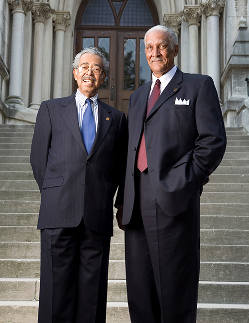 Edward Melvin Porter (LLB'59) and Frederick Taylor Work, Sr. (LLB'59)