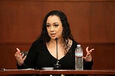 Cyntoia Brown Long speaks at Vanderbilt Law School along with her Attorney Charles Bone.