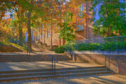 Photo of the outdoor steps leading to the Vanderbilt Legal Clinic Offices.
