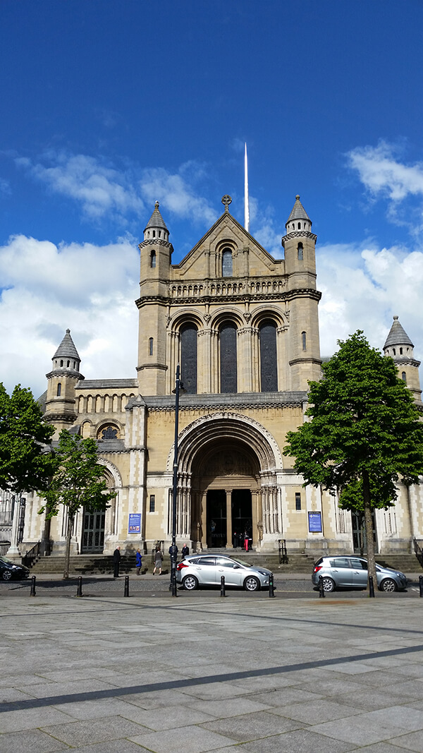The outside of St. Anne's Cathedral