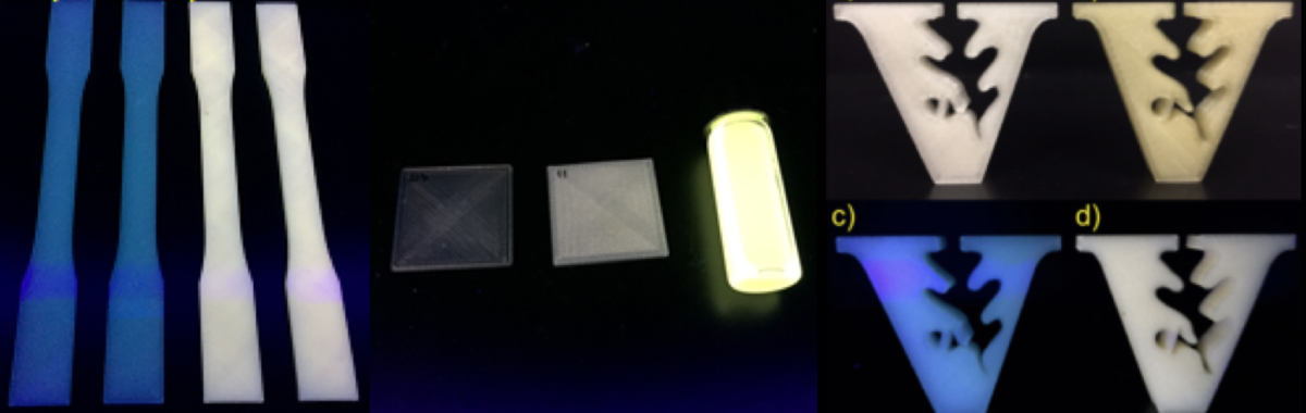 Ultrasmall white light emitting CdSe nanocrystals are used as fluorophores in quantum dot light emitting diodes.