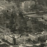 Aerial photo of Magnolia Lawn, about 1930.  Enlargement of the image PC.CAS.AERP.013 courtesy Vanderbilt University Special Collections and University Archives