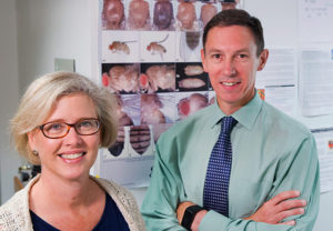 Prof. Andrea Page-McCaw and Shane Hutson