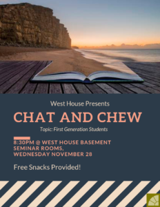 First Generation Students Chat and Chew