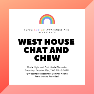 West House Chat and Chew October 11th