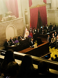 Governor Bill Haslam delivering the State of the State Address.