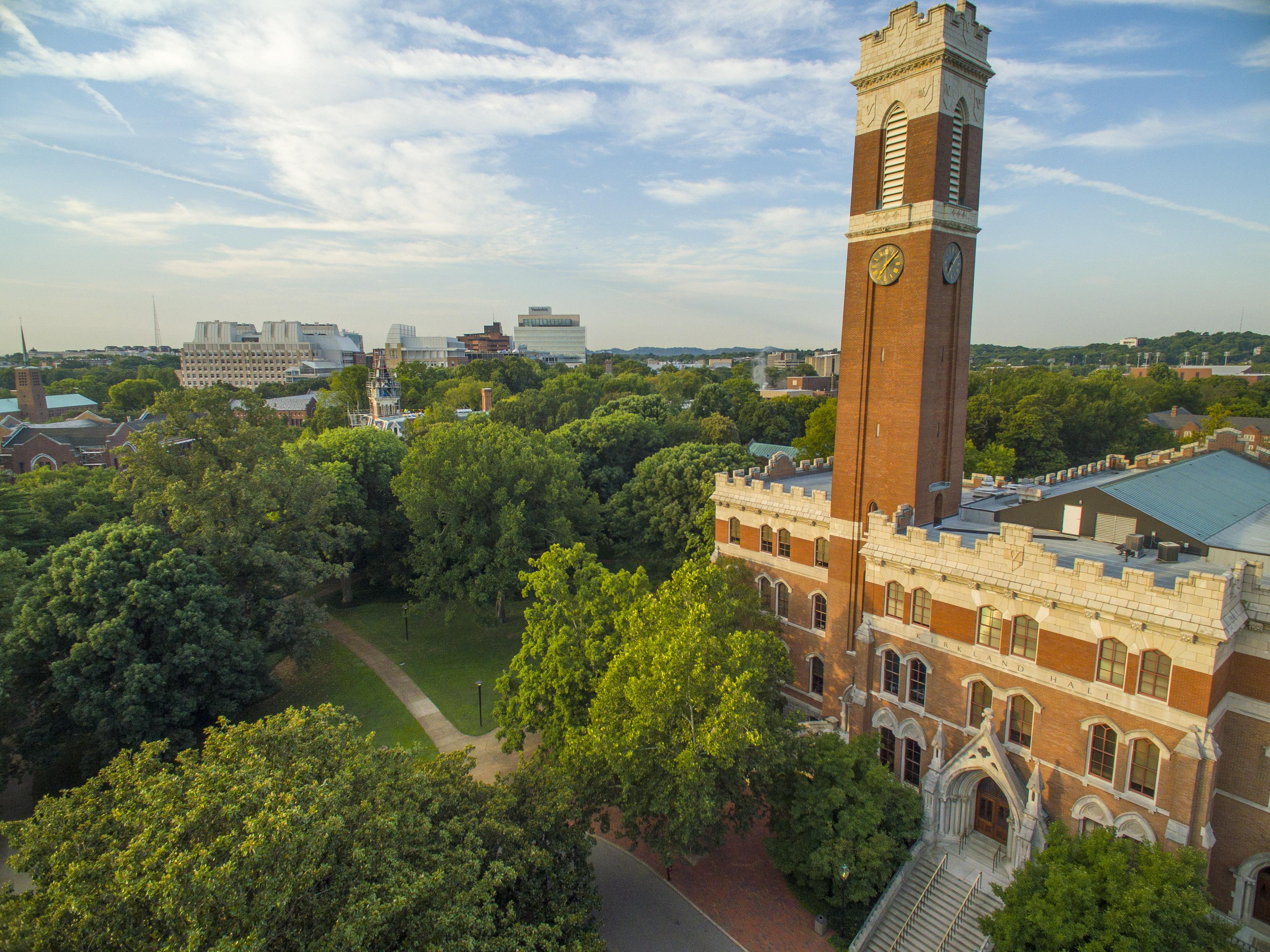 Aerial images of Vanderbilt Campus and Kirkland Hall (Daniel Dubois / Vanderbilt University)