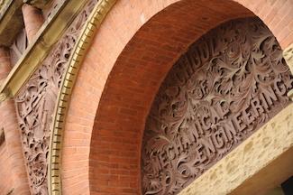Various views of Engineering building with detail shots. (John Russell/Vanderbilt University)