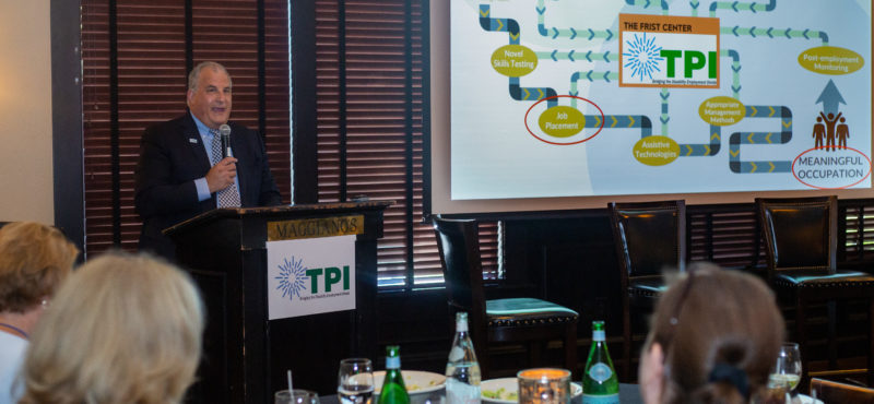 Ernie Dianastasis, the CEO of TPI, presents the Nashville Model at the TPI CEO Luncheon