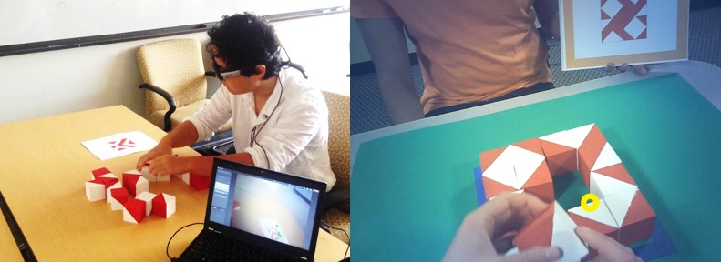 Wearable eye tracking images of the block design test