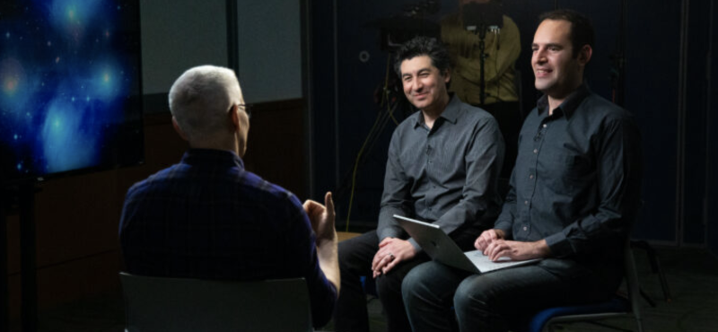 Anderson Cooper interviews Frist Center's Keivan Stassun and Dan Burger