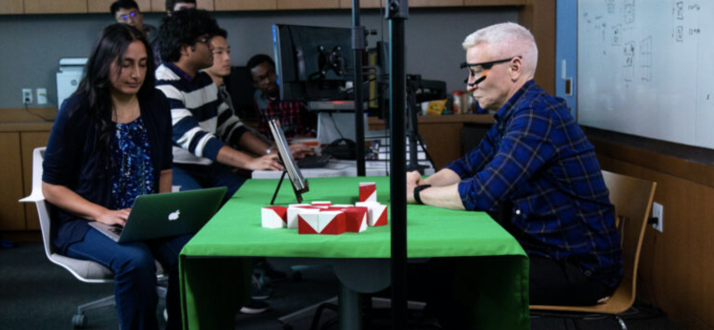 Anderson Cooper prepares for neurotypical versus neurodiverse visual cognitive assessment