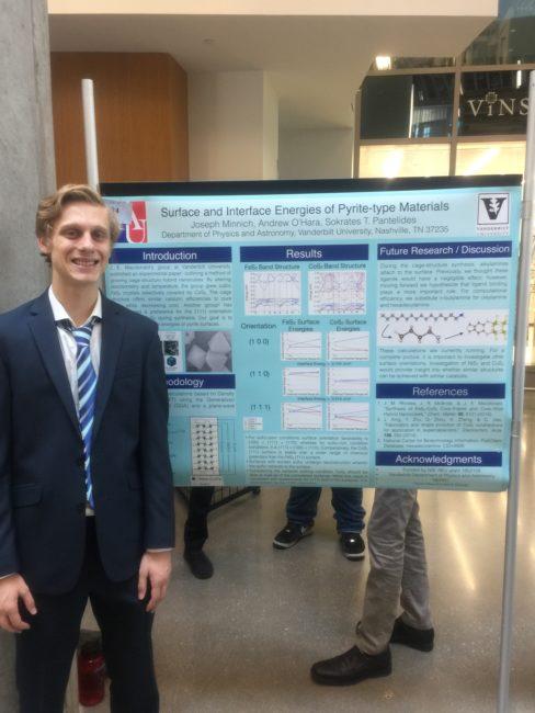2019 VSSA Summer Symposium, Vanderbilt University: REU student Joseph Minich.