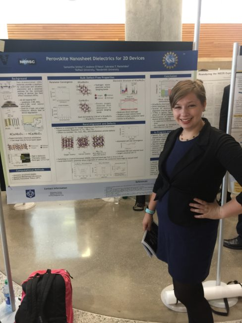 2018 VSSA Summer Research Symposium, Vanderbilt University: REU student, Samantha Smiley.