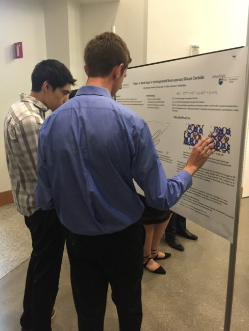 2018 VSSA Summer Research Symposium, Vanderbilt University: REU student, Colton Barger, presents his poster.