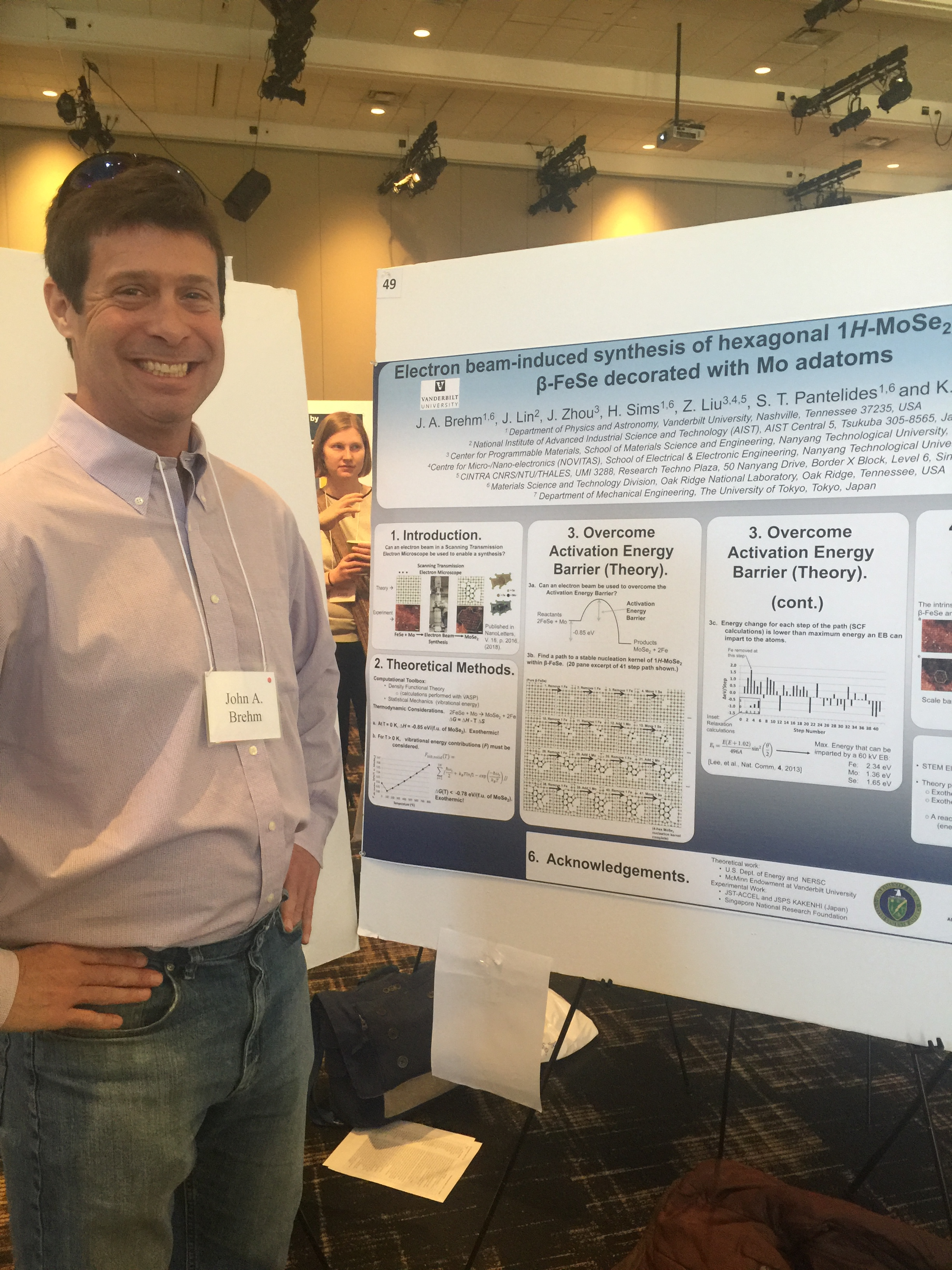 Vanderbilt Postdoctoral Association 2018 Symposium: Dr. John Brehm presents his poster.