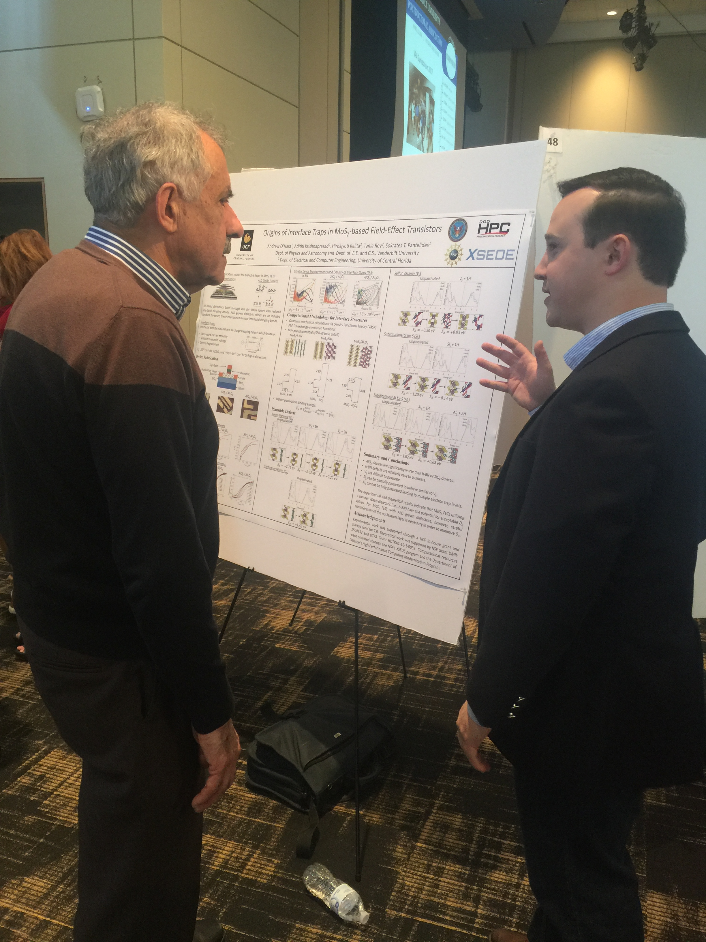 Vanderbilt Postdoctoral Association 2018 Symposium: Dr. Andy O'Hara and Professor Sokrates Pantelides.
