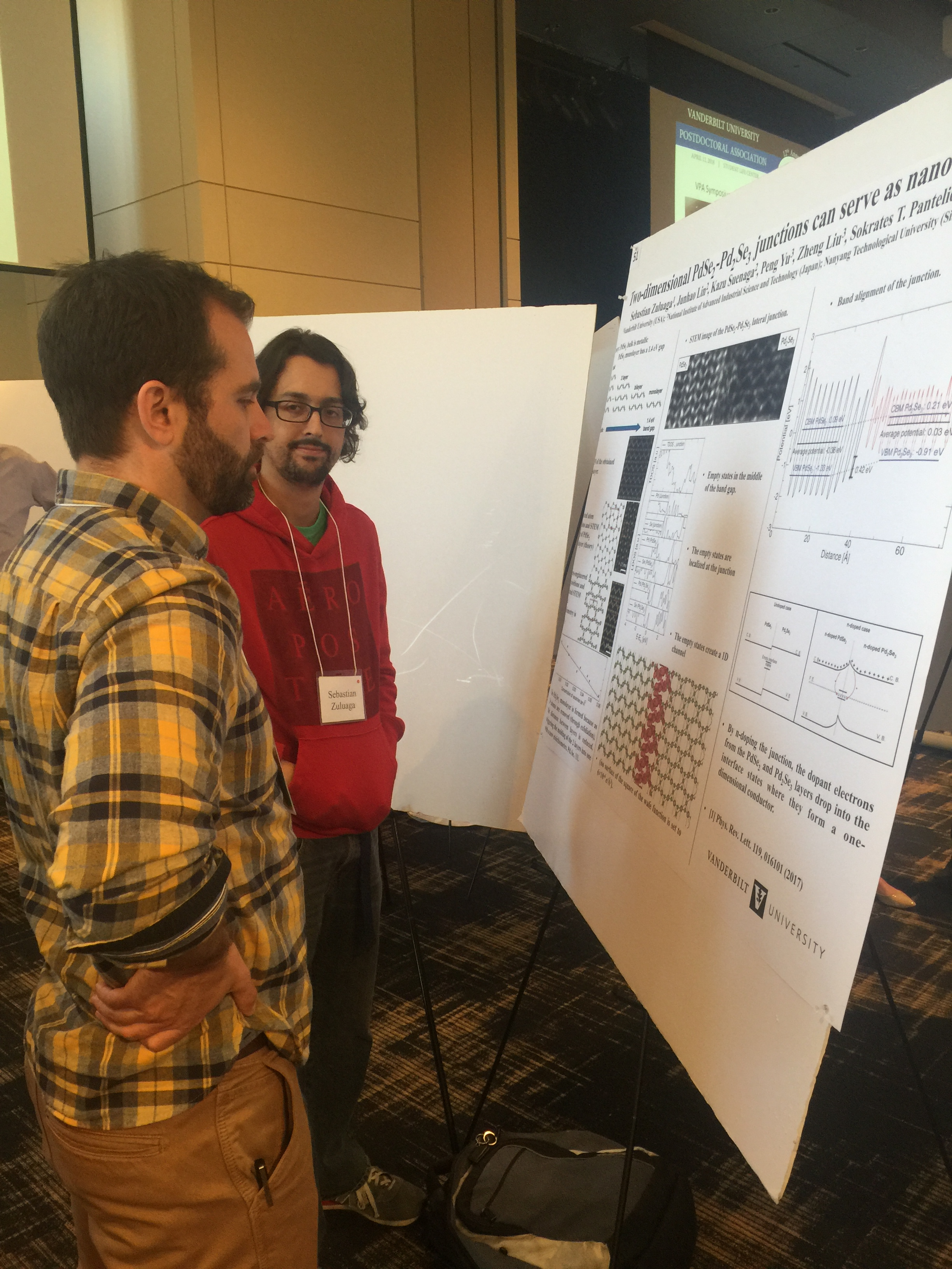 Vanderbilt Postdoctoral Association 2018 Symposium: Sebastian Zuluaga presents his poster.