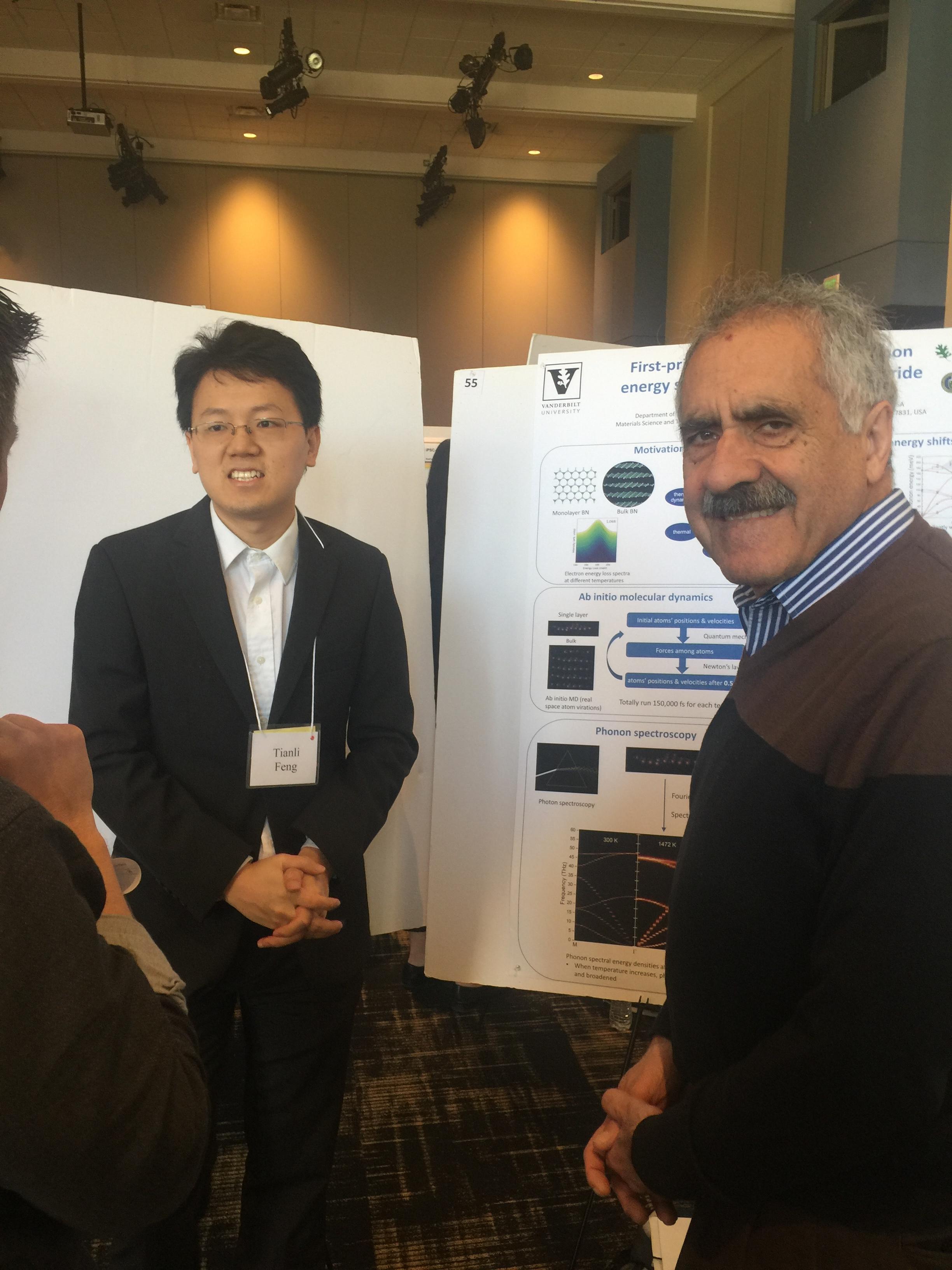 Vanderbilt Postdoctoral Affairs 2018 Symposium: Tianli Feng presenting his poster with Professor Pantelides.