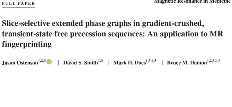 New publication in Magnetic Resonance in Medicine!