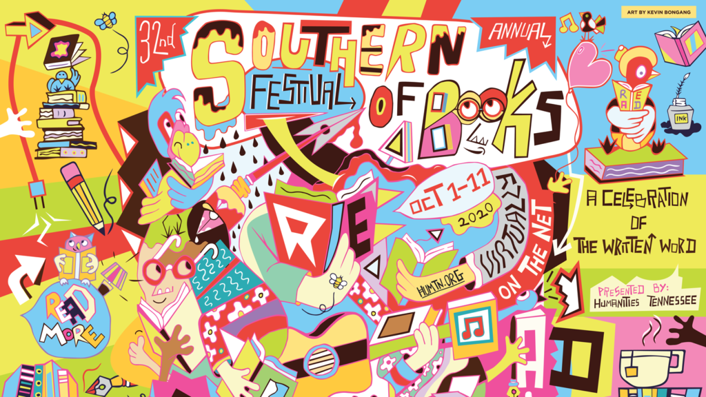 Southern Festival of Books Banner for their 2020 event