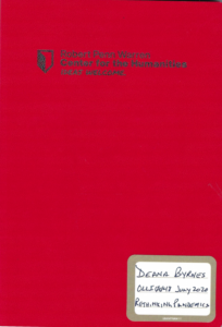 Cover of Deana's Pandemics course journal