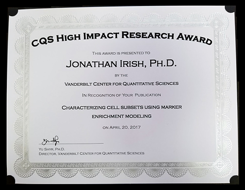 2017 CQS high impact research award