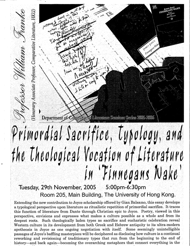 finnegans wake lecture poster