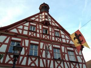 Ein Fachwerkhaus in Herzogenaurach, Deutschland
