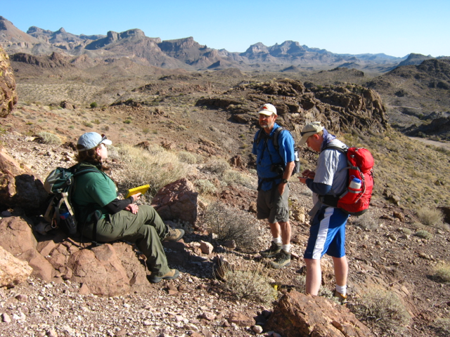 Drs. Claiborne, Miller, and Lang at Secret Pass