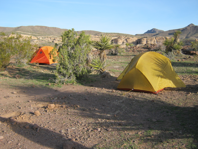 Camp at Sitgreaves Pass along Old Route 66