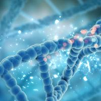 3D render DNA strands
