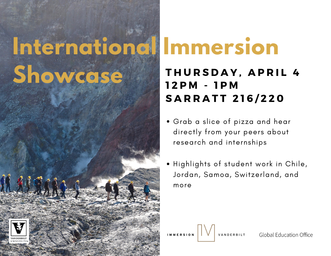 Flyer for International Immersion Dhowcase