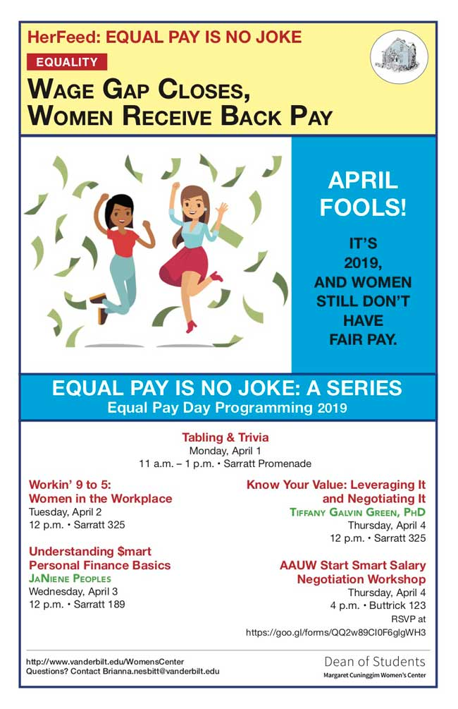 Equal Pay Day 2019 events poster