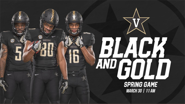 The Black and Gold spring football game is scheduled for March 30.